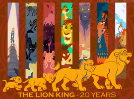 The Lion King 20th Anniversary by GrowlyLobita