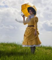 Jane with a parasol, facing left by daguerreoty-pe