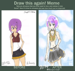 meme  before and after Violetta by Loriblackangelsnow