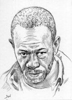 Morgan from The Walking Dead Sketch Card by Stungeon