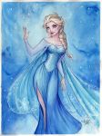 Elsa Watercolor by Sabinerich