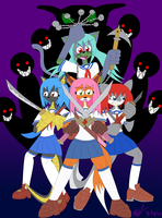 TOKYO ZONE Girls Ready to Fight by Axel-DK64