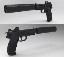 FNP 45 Tactical by jimficker