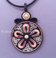 Quilled pendant by JensQuilling