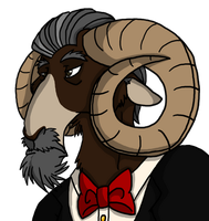 Bow ties are a ram's best friend by CNena