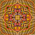 Pastel Rainbow Kaleidoscope by fraxialmadness3
