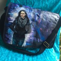 Jessica Jones hand-painted bag by kahahuna