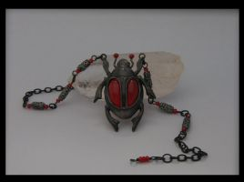 Blood Red Scarab by BringBackTheDodo