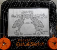 Snorlax etch a sketch by pikajane
