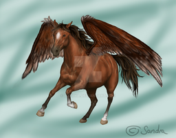 Cantering Pegasus by Axelya