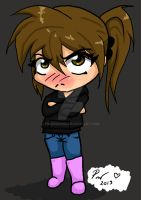 Angry chibi (Me) by pinkdog004