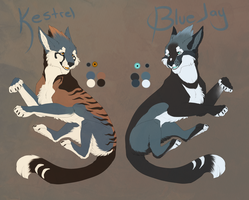 Blue and Kest Ref V2 by BlueJay-Cat