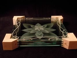 Angled Lotus spaced in frame by ImaginedGlass