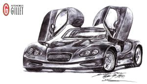 Gillet Vertigo Hypercar Drawing by toyonda