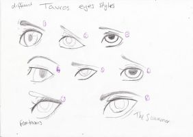 different tavros eye styles by kimmyragefire