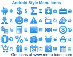Android Style Menu Icons by Ikonod