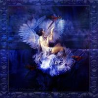 VINATAGE ANGEL Blue by Rickbw1