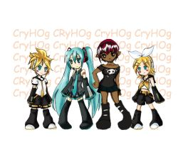 Vocaloid and Hoggy by CryHOg