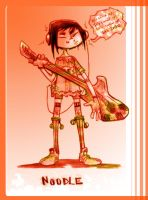 gorillaz:  Noodle plays guitar by tentaclees