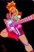 Guitar Hero elcetric color OC by PinkHeart-Manoon