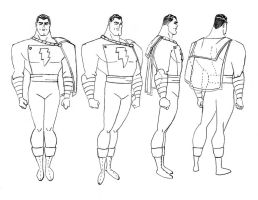 Shazam! - Captain Marvel Model Sheet by DarkATX