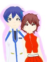 Vocaloid - Kaito and Meiko by DonutTurtles