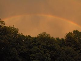 Rainbow Over Trees 03 by Geak-of-Nature