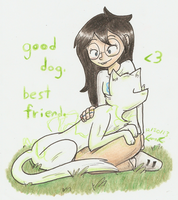 Good dog. Best friend. by Mister-Saturn