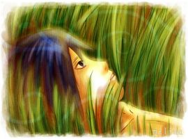 Sasuke lie on the grass by Melina-selon-Ally
