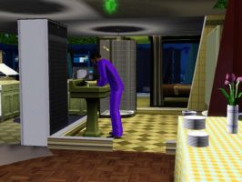 Sims 3 - Eugene tries to clean and fix the house by Magic-Kristina-KW