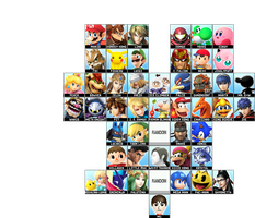 Super Smash Bros. for 3DS and Wii U Roster by MintyMintyIceCream