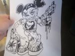 Gangster Mickey Mouse by darkriddle1