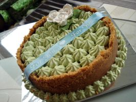 Matcha Green Tea Cheesecake by Sliceofcake