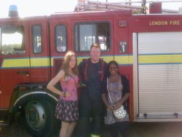 My Mate and I With a Fireman by GoldenDani