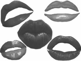 Lips Brushes by BrokenFeline-Stock