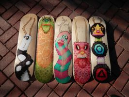 Monster Skateboards by RandomCushing
