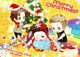 SPN-2009 merry christmas by siruphial