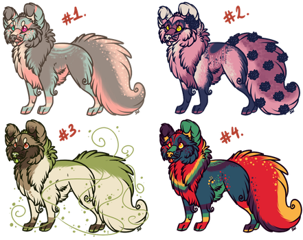 floofs batch 1: ALL SOLD by disasterpuppet