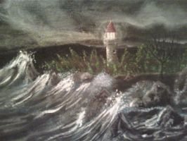 Lighthouse detail by Lioness123