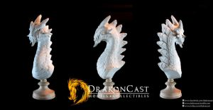 Rock Dragon bust - resin cast by drakoncast