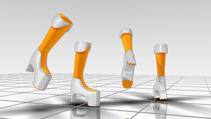 mmd part dl : platform shoes by Waltervd