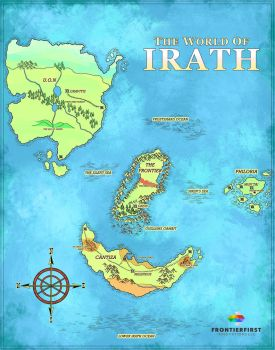 Map of Irath by FrontierGai