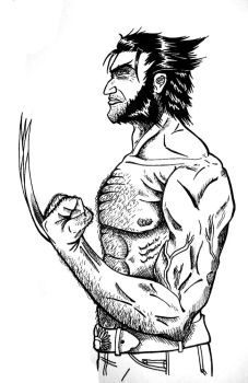 Logan-Wolverine Sketch by valorxx