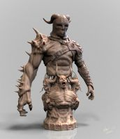 warrior dude with extraordinary arm 02 by OmrZrn