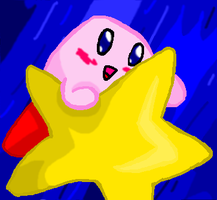 Kirby Riding on the Warp Star by Author-Goddess