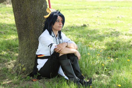 Ren Hakuryuu lost in thought by chanellenumber5
