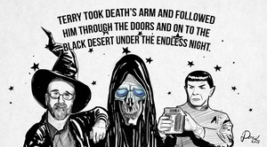 Rest in Peace Terry Pratchett and Leonard Nimoy by Docik
