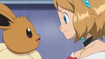 Eevee's saying something to Serena by WillDynamo55