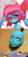Monster High Cteno Head WIP by Chaos28561