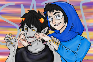 Smile, Karkat! by pecan-tart